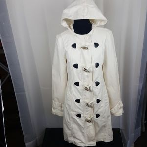 Tulle womens hooded trench coat size medium